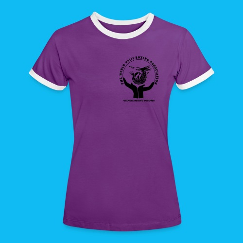 Women's Ringer T-Shirt with black front logo (Choice of colours) - Women's Ringer T-Shirt