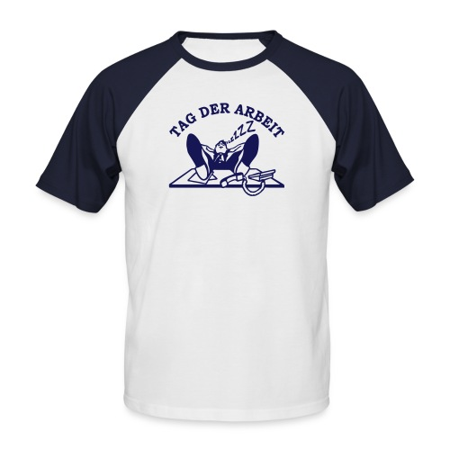 Kurzarm Shirt Tag der Arbeit - Männer Baseball-T-Shirt