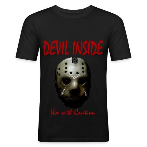 T-shirt Homme Devil Inside - T-shirt près du corps Homme