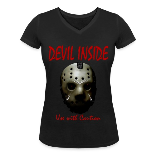 T-shirt Femme Devil Inside - T-shirt bio col V Stanley & Stella Femme