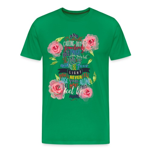 Home (with Roses) Mens Shirt - Men's Premium T-Shirt