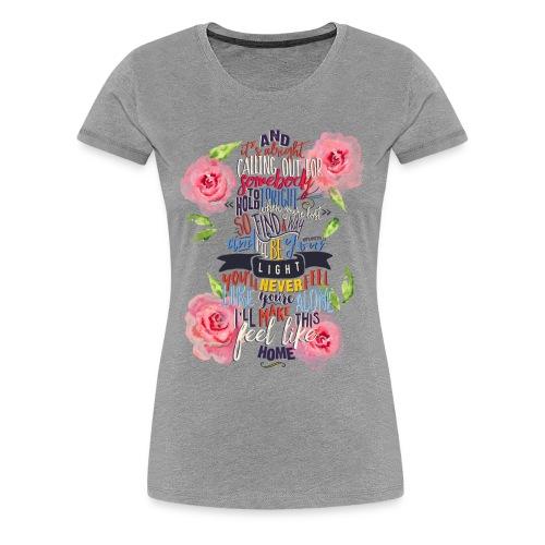 Home (with Roses) Womens Shirt - Women's Premium T-Shirt