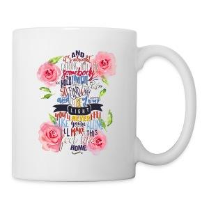 Home (with Roses) mug - Mug