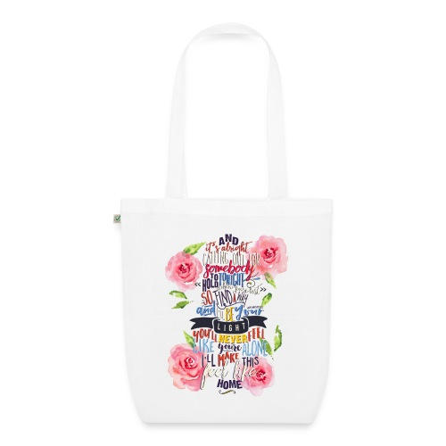 Home (with Roses) tote - EarthPositive Tote Bag