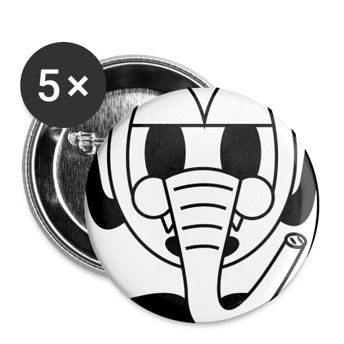 Buttons (5 stuks) Okke - Buttons groot 56 mm (5-pack)