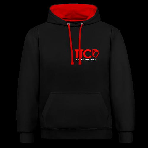 TTC Hoodie rot/schwarz - Kontrast-Hoodie