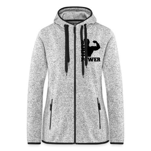Womans Power Fleece Jacket - Women's Hooded Fleece Jacket