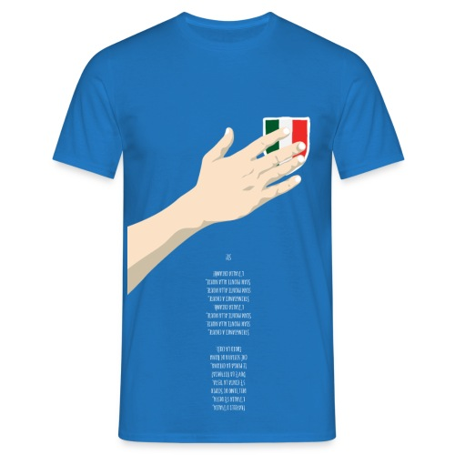 Mano sul cuore + inno al rovescio - Maglietta da uomo