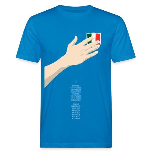 Mano sul cuore + inno al rovescio - T-shirt ecologica da uomo