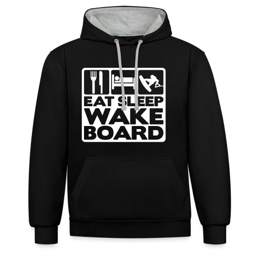 BRTL Hoodie Eat Sleep Wakeboard - Kontrast-Hoodie