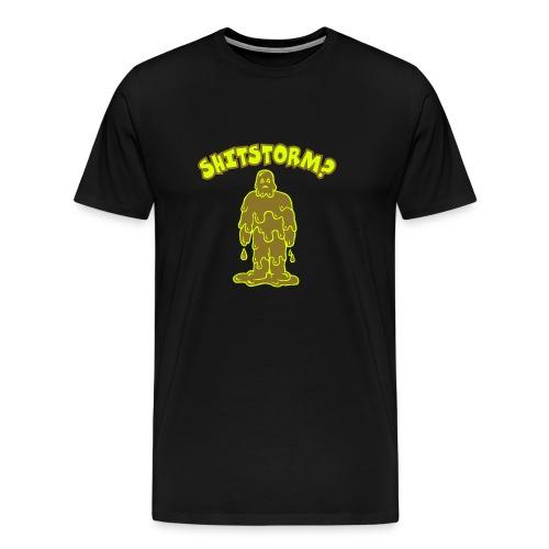Shitstorm?_gold - Männer Premium T-Shirt