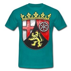 Rheinland Pfalz Wappen in Stein gemeißelt - Männer T-Shirt