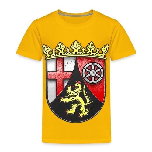 Rheinland Pfalz Wappen in Stein gemeißelt - Kinder Premium T-Shirt