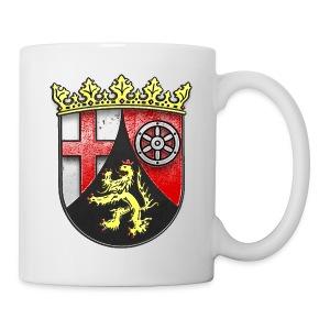 Rheinland Pfalz Wappen in Stein gemeißelt - Tasse