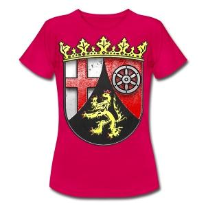 Rheinland Pfalz Wappen in Stein gemeißelt - Frauen T-Shirt