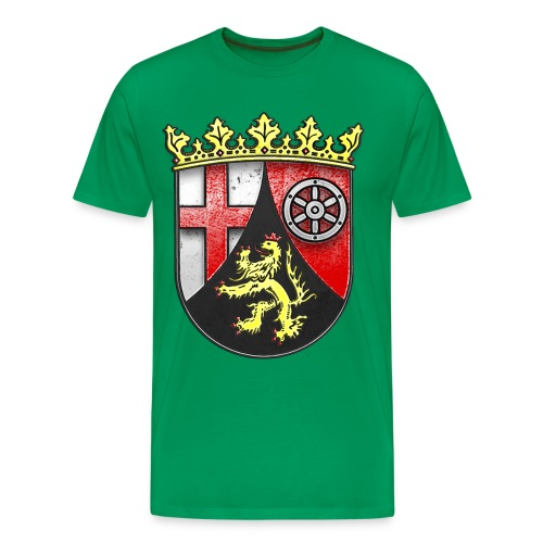 Rheinland Pfalz Wappen in Stein gemeißelt - Männer Premium T-Shirt