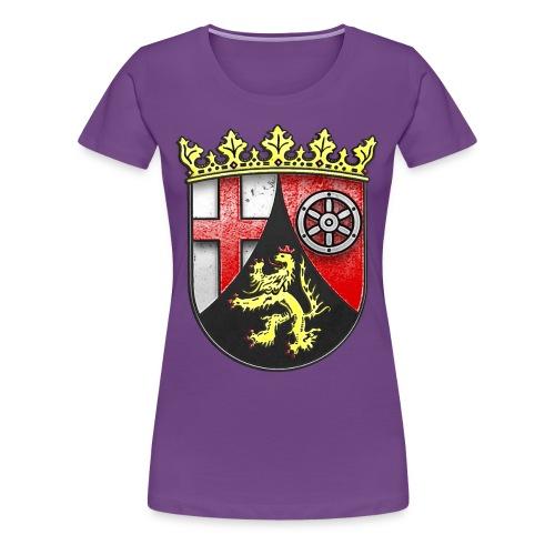 Rheinland Pfalz Wappen in Stein gemeißelt - Frauen Premium T-Shirt