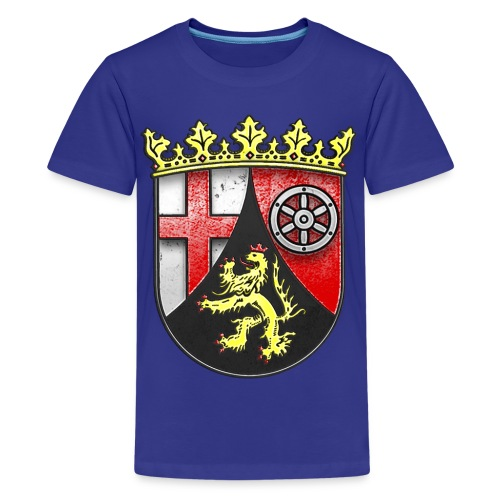 Rheinland Pfalz Wappen in Stein gemeißelt - Teenager Premium T-Shirt