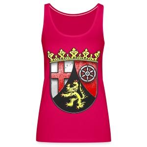 Rheinland Pfalz Wappen in Stein gemeißelt - Frauen Premium Tank Top