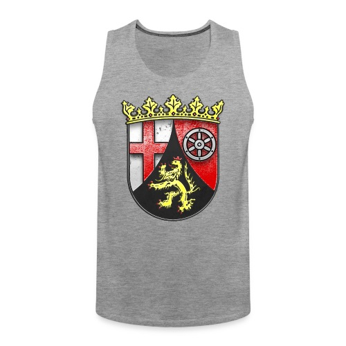 Rheinland Pfalz Wappen in Stein gemeißelt - Männer Premium Tank Top