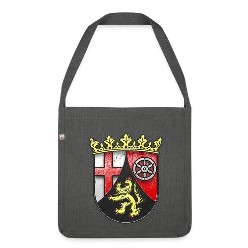 Rheinland Pfalz Wappen in Stein gemeißelt - Schultertasche aus Recycling-Material