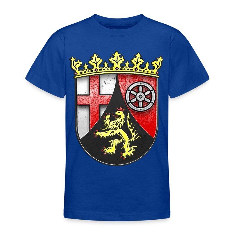 Rheinland Pfalz Wappen in Stein gemeißelt - Teenager T-Shirt