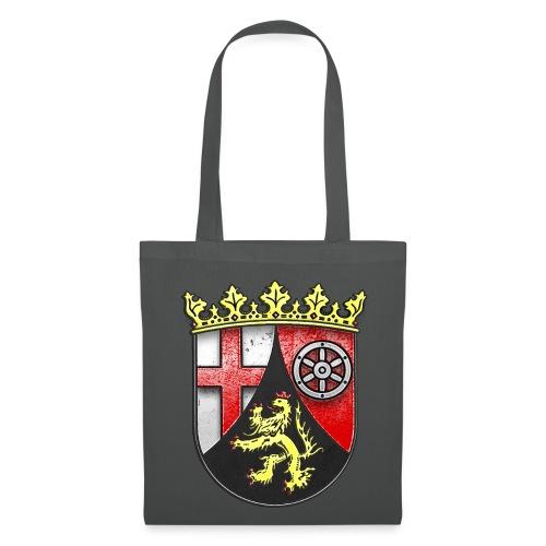Rheinland Pfalz Wappen in Stein gemeißelt - Stoffbeutel