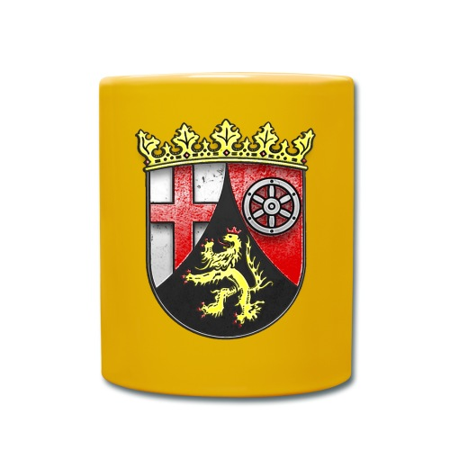 Rheinland Pfalz Wappen in Stein gemeißelt - Tasse einfarbig