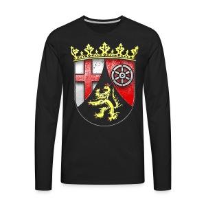 Rheinland Pfalz Wappen in Stein gemeißelt - Männer Premium Langarmshirt