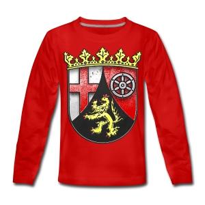 Rheinland Pfalz Wappen in Stein gemeißelt - Teenager Premium Langarmshirt