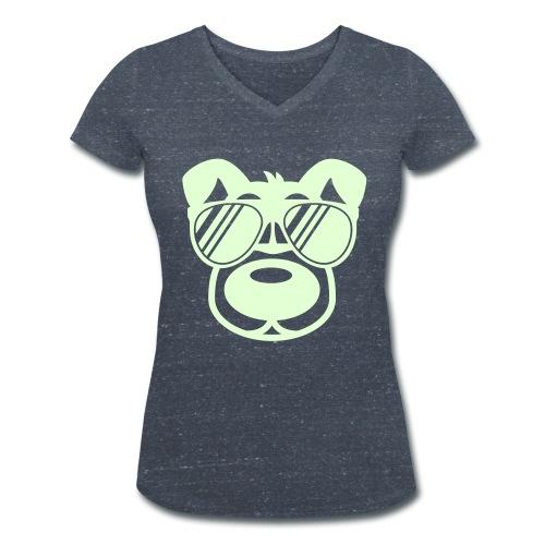 T-Shirt grau - Frauen Bio-T-Shirt mit V-Ausschnitt von Stanley & Stella