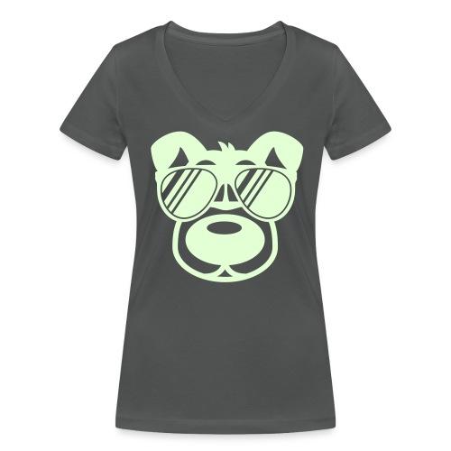 T-Shirt schwarz - Frauen Bio-T-Shirt mit V-Ausschnitt von Stanley & Stella