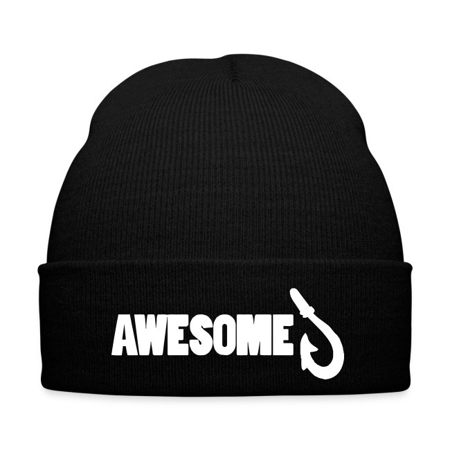 Totally Awesome Fishing Winter Beanie Hat