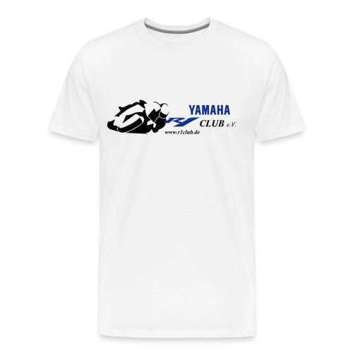 R1Club e.V. weiss - R1 blau - Männer Premium T-Shirt