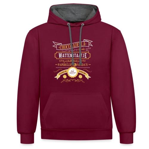 Wattenstaafje unisex contrast hoodie - Contrast hoodie