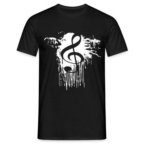 Notenschluessel Farbfleck T-Shirts - Männer T-Shirt
