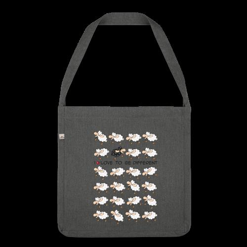 PSB Bag Schafe grau - Schultertasche aus Recycling-Material