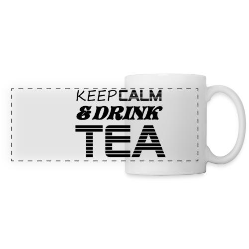 Tasse Keep calm & drink tea - Mug panoramique contrasté et blanc