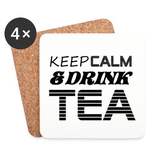 Dessous de verre keep calm & drink tea - Dessous de verre (lot de 4)