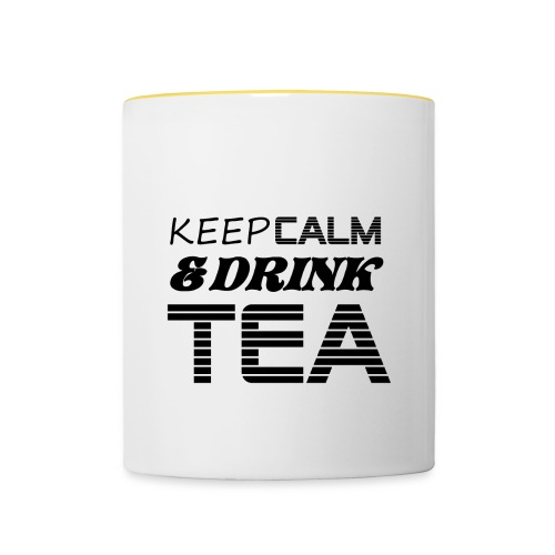 Tasse tricolore keep calm & drink tea - Mug contrasté