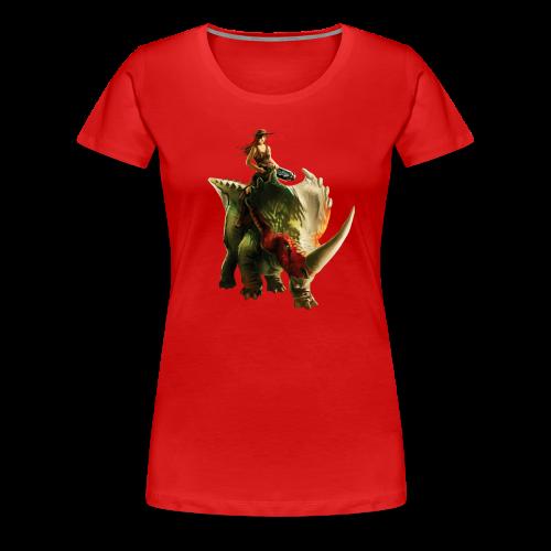 Cowgirl T-Shirt (Woman) - Women's Premium T-Shirt