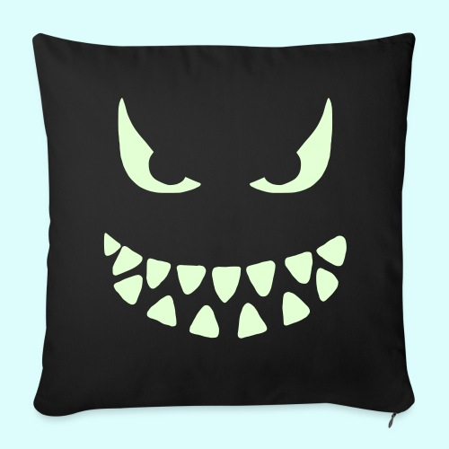 Evil Face (Leuchtend) Kissen - Sofakissenbezug 44 x 44 cm
