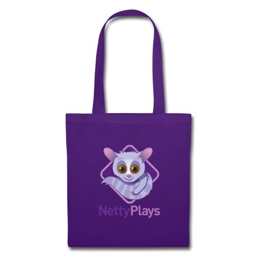 NettyPlays Logo Purple Shoulder bag - Tote Bag