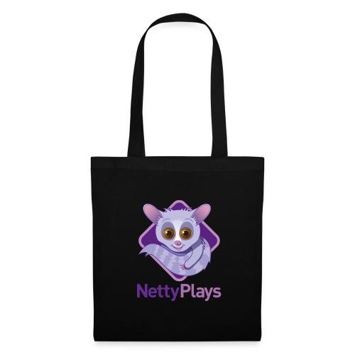 NettyPlays Logo Black Shoulder bag - Tote Bag