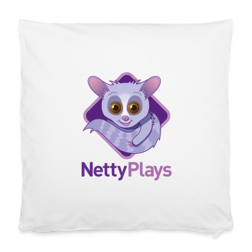 NettyPlays Logo Cushion - Pillowcase 40 x 40 cm