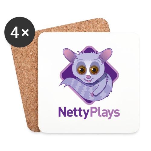 NettyPlays Logo coasters - Coasters (set of 4)