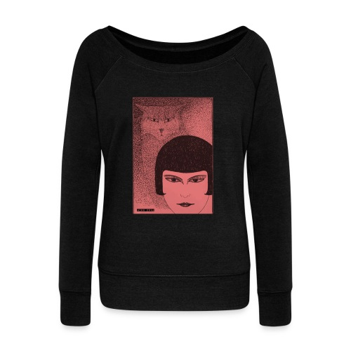 Cats Sweater - Women's Boat Neck Long Sleeve Top