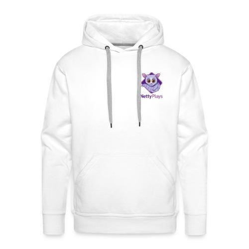 NettyPlays small Logo white hoodie Mens - Men's Premium Hoodie
