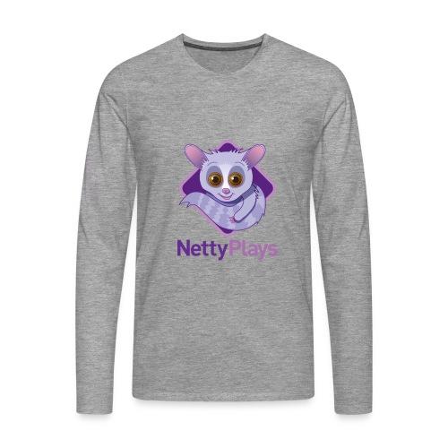 NettyPlays Logo Grey Long sleeved Mens - Men's Premium Longsleeve Shirt