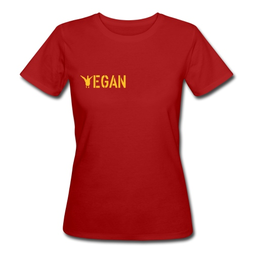 T-Shirt V Ente bio Girlie - Frauen Bio-T-Shirt
